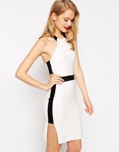 Платье-футляр с вырезами ASOS - Черно-белый