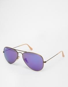 Солнцезащитные очки-авиаторы Ray‑Ban - Золотистый зеркальный