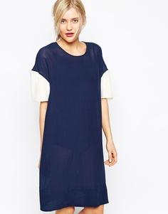Платье с принтом 33 Wood Wood Sia - Черный ирис