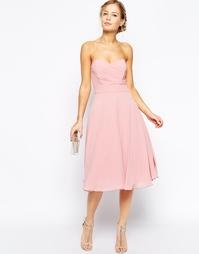 Платье миди для выпускного TFNC - Свадебная роза