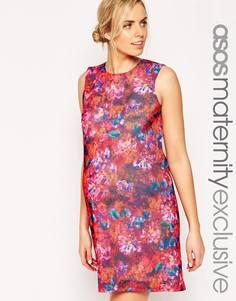 Цельнокройное платье для беременных с принтом ASOS Maternity - Мульти