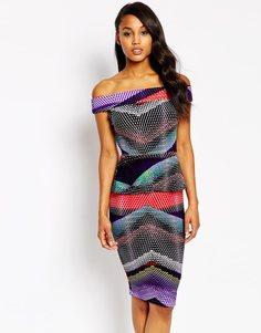 Облегающее платье контрастной расцветки Vesper Serena - Ацтек