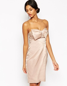 Платье‑бандо с бантом Lipsy VIP - Телесный