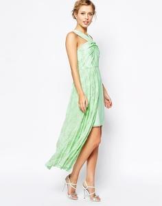 Платье с асимметричным подолом VLabel London Forest