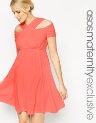 Короткое приталенное платье для беременных ASOS Maternity