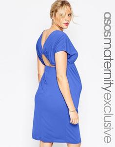 Платье миди для беременных ASOS Maternity - Синий