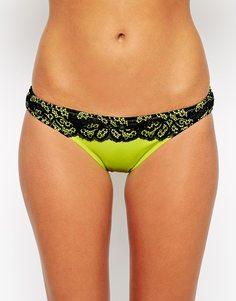 Бразильские плавки бикини с контрастной кружевной отделкой ASOS