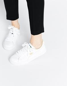Классические белые кроссовки Puma Basket - Белый