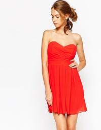 Шифоновое платье для выпускного с мягкими складками TFNC - Красный