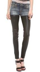 Кожаные джинсы в стиле чаппарахас R13