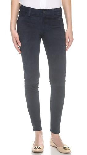 Замшевые брюки со средней посадкой