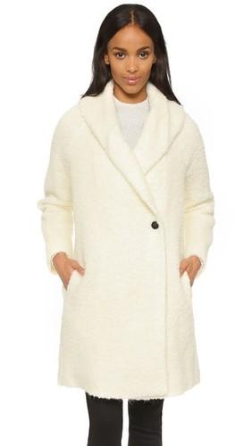 Ворсистое трикотажное пальто
