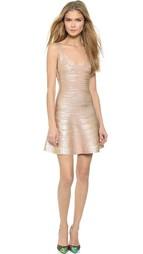 Платье без рукавов Herve Leger