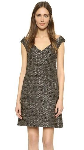 Платье из эластичного жаккарда