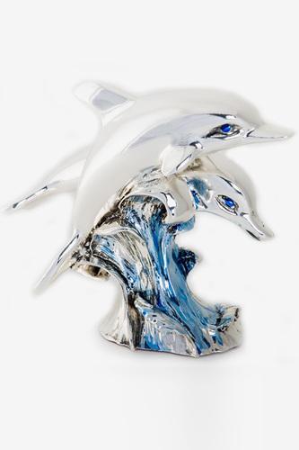 Пара дельфинов 12х10
