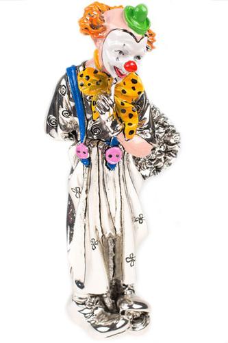 Клоун с цветами 17 см