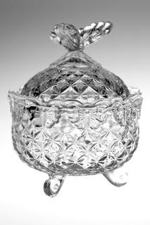 """Доза """"Бабочка"""",13,5 см Crystalite Bohemia"""
