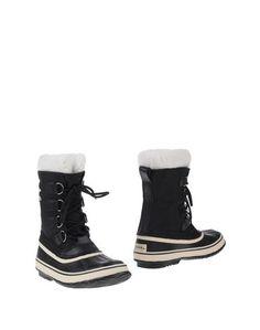 Черные Полусапоги и высокие ботинки Sorel