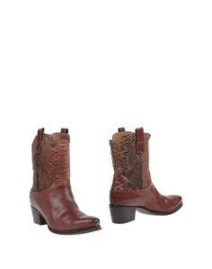 Коричневые Полусапоги и высокие ботинки Pantanetti