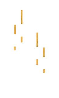 Набор из 4 сережек со стразами ali - gorjana