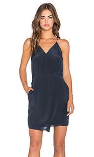 Шелковое платье с перекрестными шлейками спереди sera - Greylin