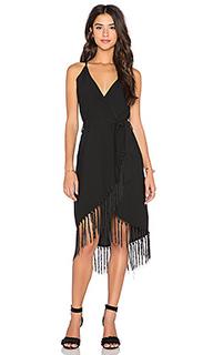 Платье с запахом и бахромой - GLAMOROUS