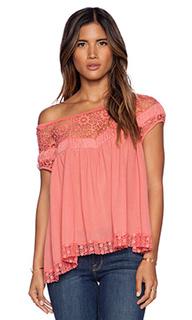 Блузка со спущенными плечами с кружевом heart throb babydoll - Free People