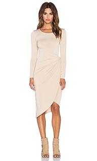 Платье с длинным рукавом knot front - Donna Mizani