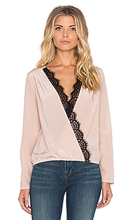 Топ long sleeve cross over top - LIV