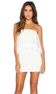 Кружевное мини-платье без бретель - T-Bags LosAngeles
