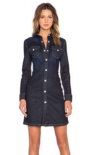 Джинсовое платье рубашка x alexa chung pixie - AG Adriano Goldschmied
