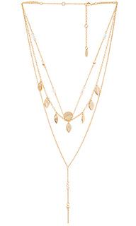 Ярусное ожерелье с подвесами на бахроме - Ettika