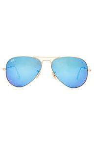 Зеркальные линзы авиатор солнцезащитные очки - Ray-Ban