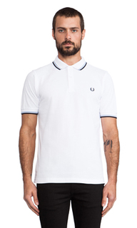 Приталеное поло twin tipped - Fred Perry