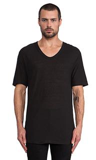 Мешковидная футболка из вискозы и шелка с низким вырезом вырезом - T by Alexander Wang