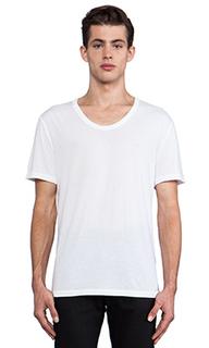 Классическая футболка с низким вырезом - T by Alexander Wang