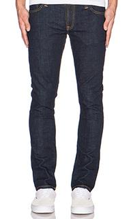 Узкие джинсы темный ополаскиватель tight long john - Nudie Jeans