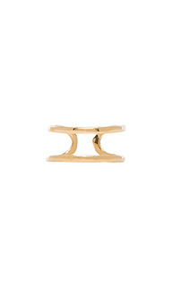 Двойное кольцо с изгибом - joolz by Martha Calvo