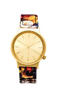 Часы в цветочек wizard print series - Komono