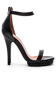 Босоножки на каблуке с открытым носком burke - Jeffrey Campbell