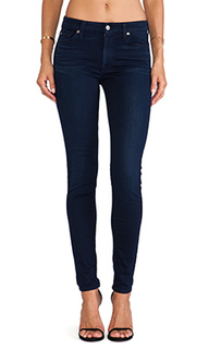 Утягивающие узкие джинсы the midrise skinny with contour - 7 For All Mankind