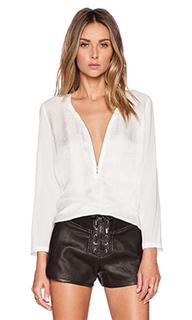 Шелковая блуза с длинным рукавом - The Kooples
