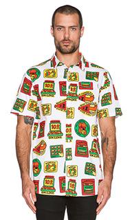 Рубашка на пуговицах merit badge - Lazy Oaf