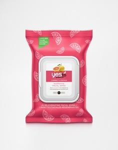 25 отшелушивающих салфеток Yes To Grapefruit - Грейпфрутовый
