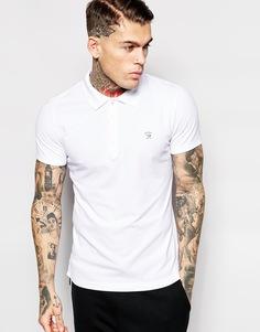 Трикотажная футболка-поло узкого кроя Diesel T-Yahei - Белый