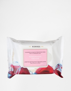 Очищающие салфетки для снятия макияжа с экстрактом граната для жирной Korres
