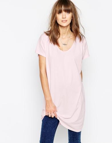 Удлиненная футболка The Furies Poseur - Конфетно-розовый