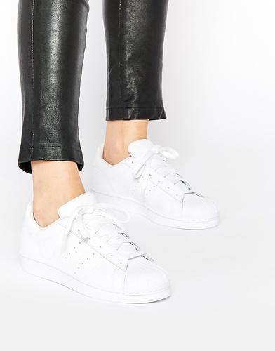 Белые кроссовки Adidas Originals Superstar Foundation - Белый