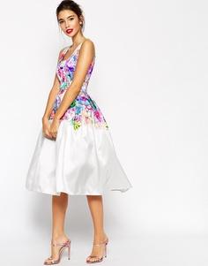 Пышное платье для выпускного с цветочным принтом ASOS - Мульти