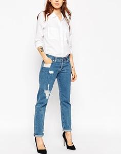 Рваные джинсы бойфренда ASOS Brady - Стираный деним